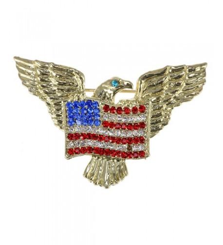 Alilang Golden Patriotic American Rhinestone