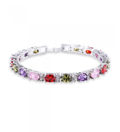 GULICX Elegant Bracelet coloured Zirconia