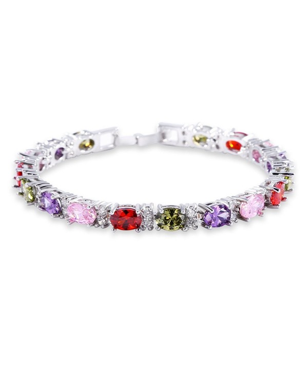 GULICX Elegant Bracelet coloured Zirconia