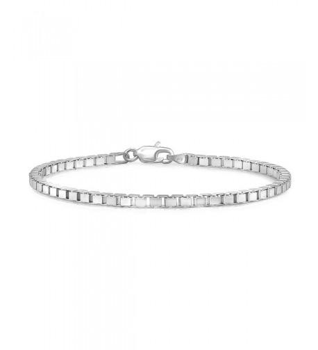 Sterling Silver Nickel Free Squared Bracelet