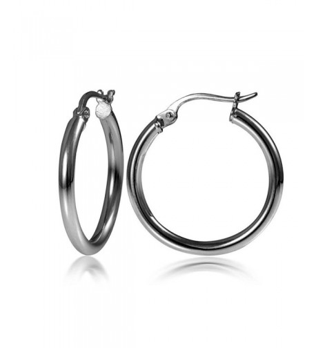 Flashed Sterling Silver Polished Earrings