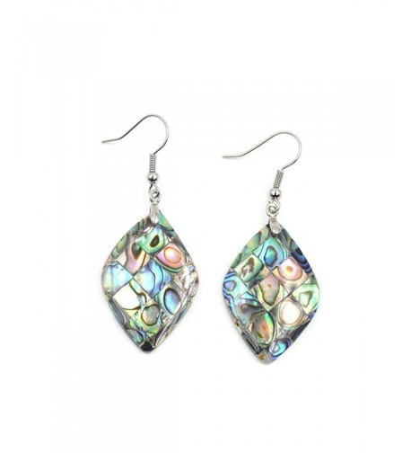 Natural Abalone Earrings Geometric Unique