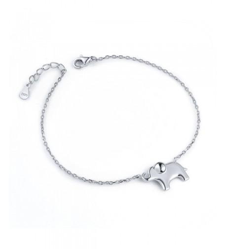 ATHENAA Sterling Silver Elephant Bracelet