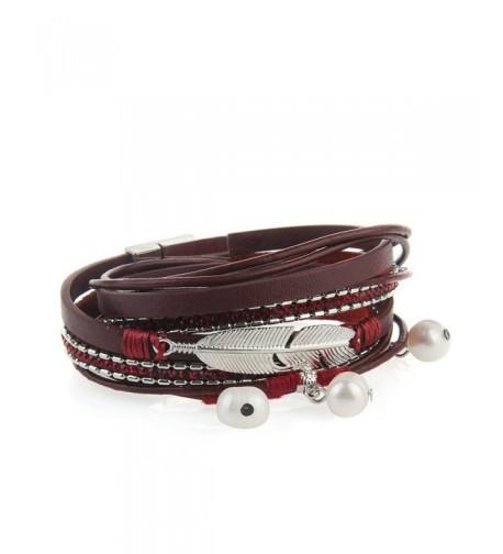 Genuine Leather Bracelet Pendant JOYMIAO