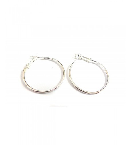 Color Hoop Earrings Simple White