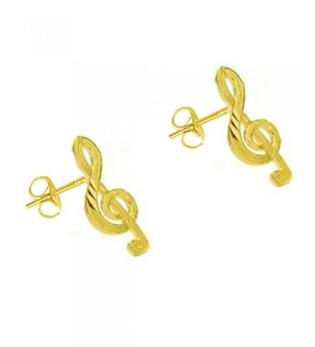 Yellow Music Treble Musical Earrings