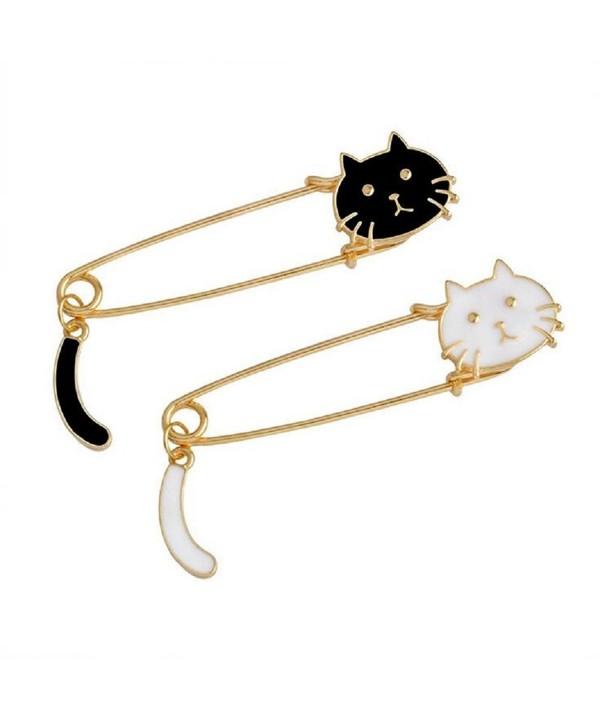Black White Exquisite Brooch Pins