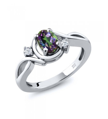 Mystic Topaz White Sterling Silver