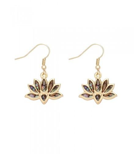 MANZHEN Flower Blossom Earrings Abalone