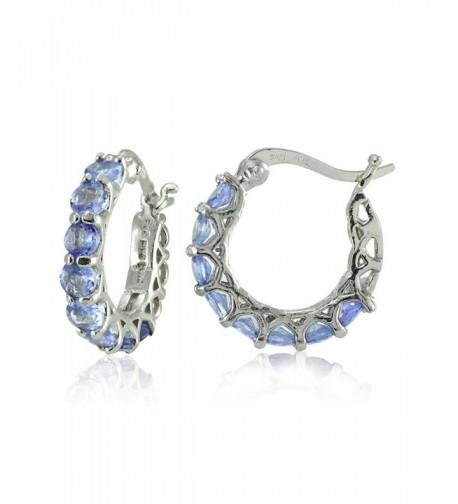 Sterling Silver Tanzanite Huggie Earrings
