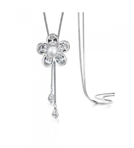 Merdia Created Crystal Simulated Necklace
