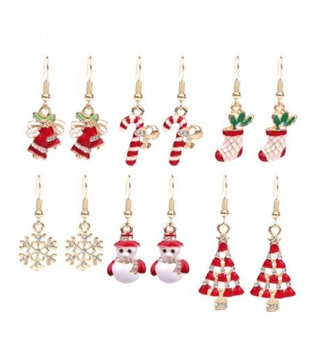 Paxuan Womens Christmas Earrings Jewelry