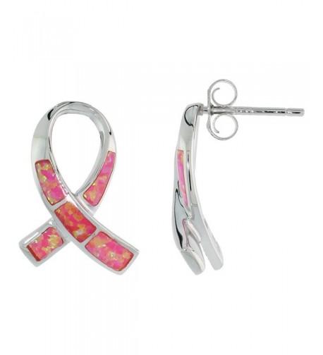 Sterling Silver Cancer Awareness Earrings