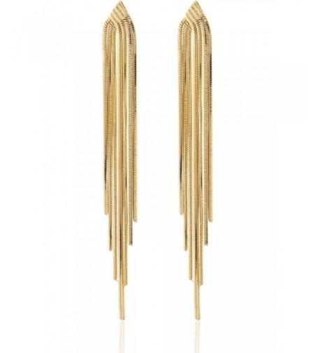 Sleek Chain Tassel Earrings Lovey