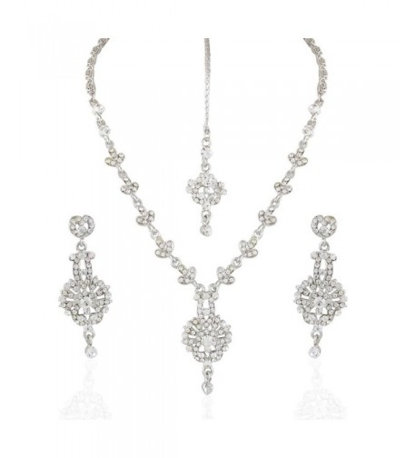 Jewels Cocktail Rodium Plated Necklace