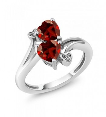 Garnet Diamond Accent Sterling Available