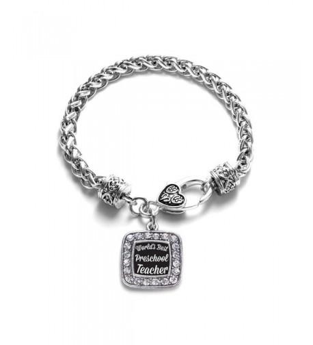 Preschool Teacher Classic Silver Bracelet