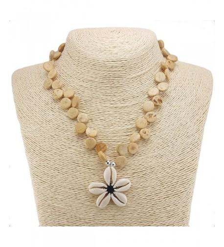 Cowrie Shells Pendant Coconut Necklace