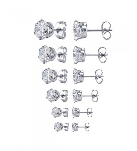 Jstyle Jewelry Stainless Zirconia Earring