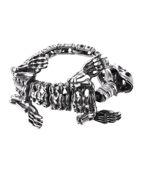 Tyrannosaurus Dinosaur Skeleton Bracelet Stainless steel
