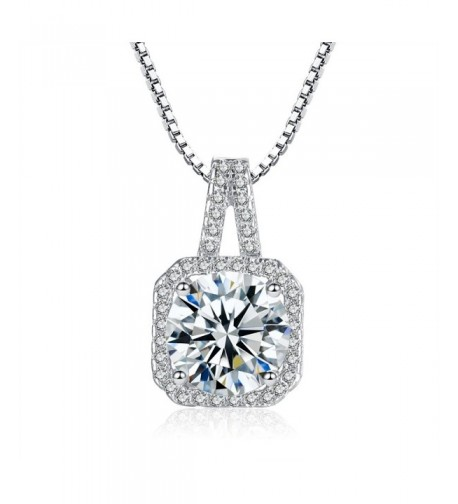 Zirconia Pendant Necklace Crystal Plated