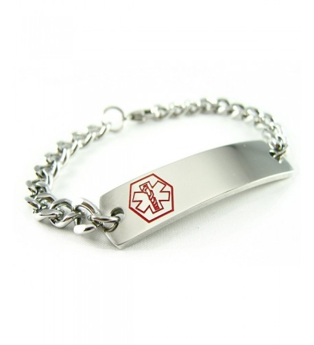 MyIDDr Pre Engraved Customizable Diabetes Bracelet