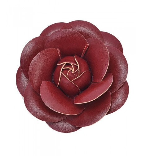 Zarapack Womens Leather Camellia Flower