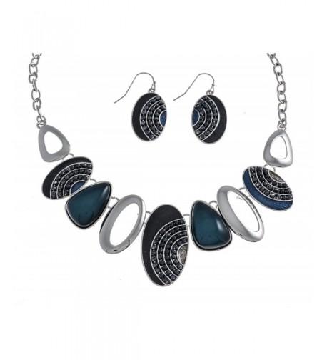 Shagwear Geometric Triangle Necklace Earring