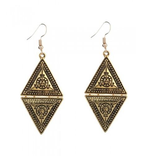 Yazilind Vintage Geometric Triangle Earrings