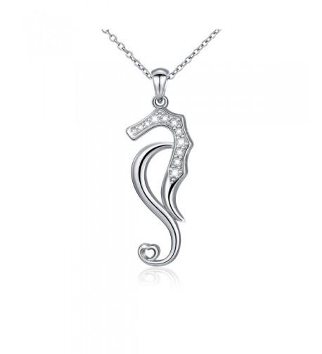 Sterling Zirconia Seahorse Pendant Necklace