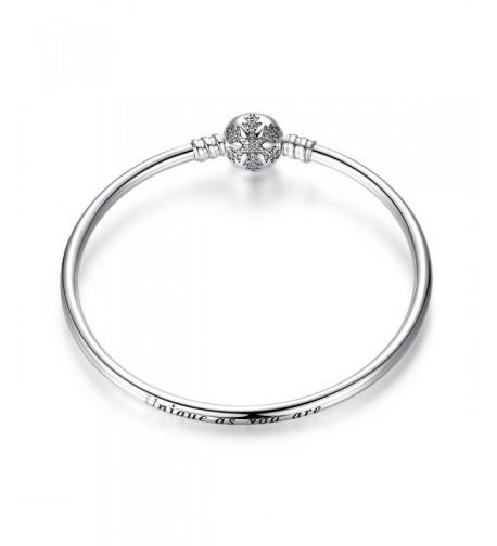 BAMOER Sterling Sparkling Snowflake Bracelet