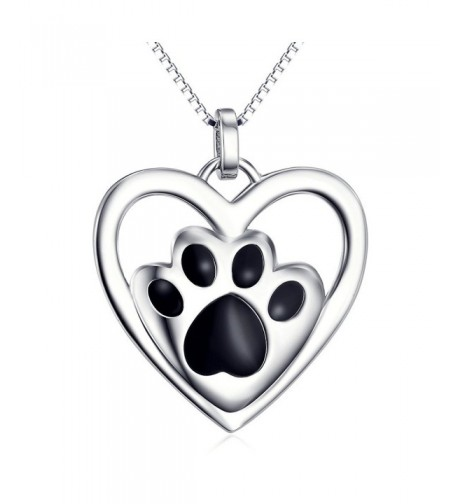 Sterling Silver Puppy Pendant Necklace