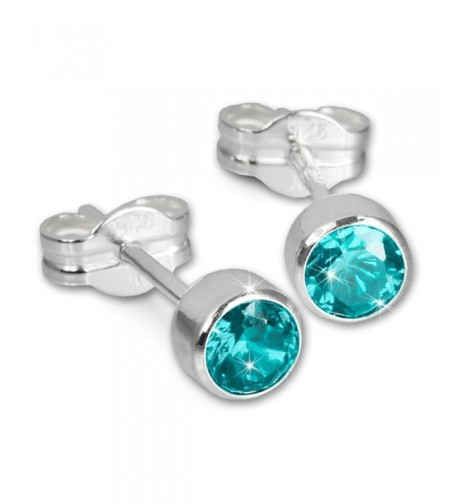SilberDream Zirkonia turquoise Sterling SDO503T
