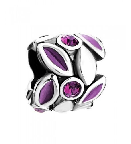 LovelyJewelry Flower Crystal European Bracelet