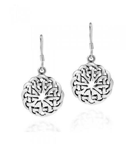 Celtic Sterling Silver Dangle Earrings