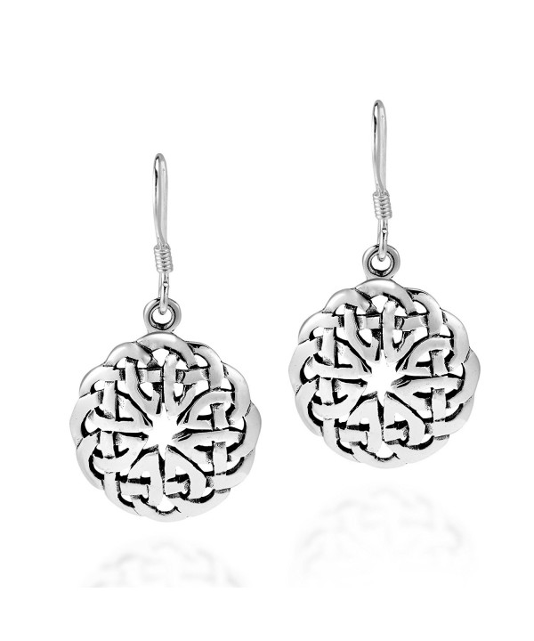 Celtic Sterling Silver Dangle Earrings