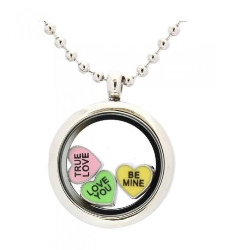 Locket Magnetic Necklace Floating Valentines