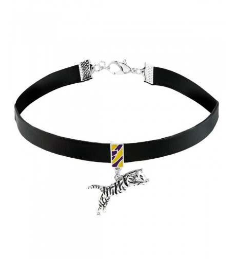 Synthetic Leather Charm Necklace Choker