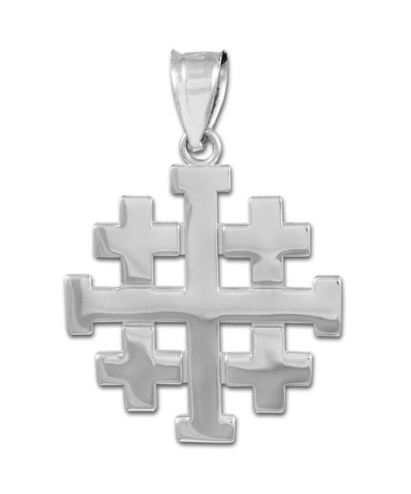 Sterling Templar Crusaders Jerusalem Pendant
