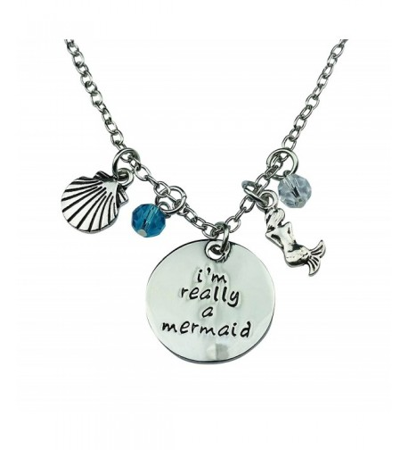 Art Attack Silvertone Mermaid Necklace