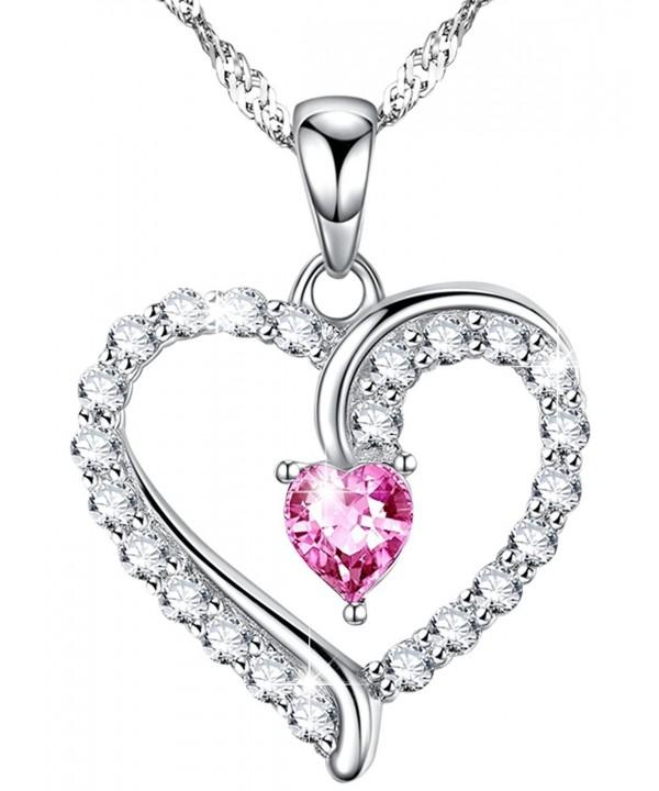d8368775d Necklace Tourmaline Swarovski Anniversary Birthday Pink Tourmaline ...