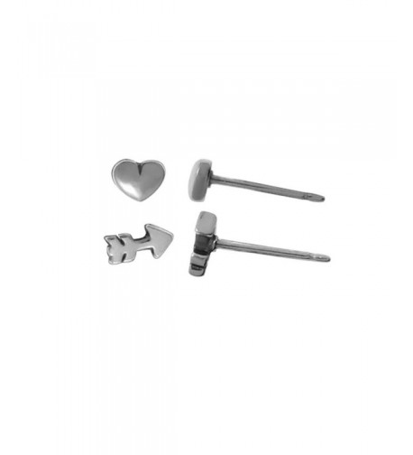 Boma Sterling Silver Heart Earrings
