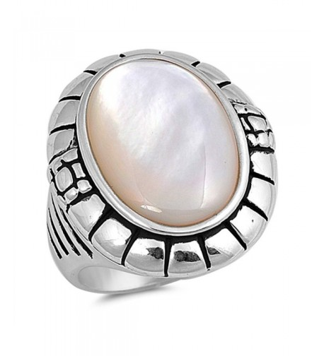 Simulated Mother Pearl Sterling Silver
