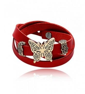 ChaungYun Leather Extendable Butterfly Bracelet