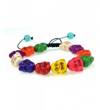 Mixed Colors Created Turquoise Buddha Bracelet