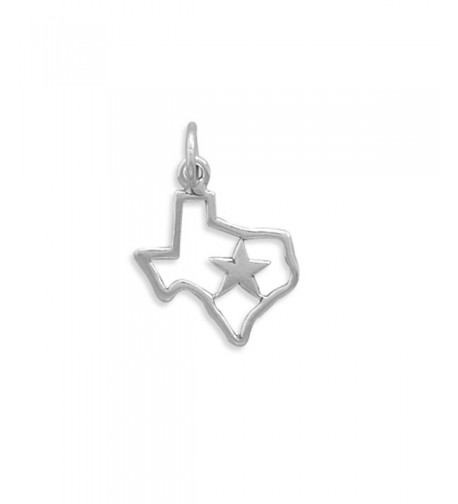 State Texas Polished Sterling Silver