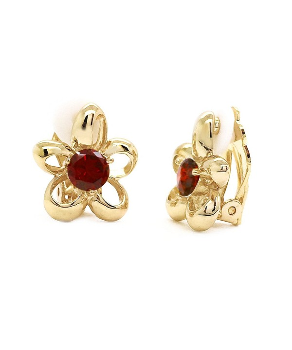 Flower Earrings Plated Women Fashion