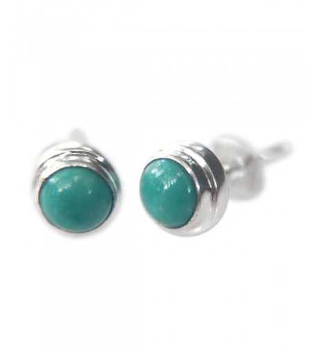 NOVICA Reconstituted Turquoise Sterling Earrings