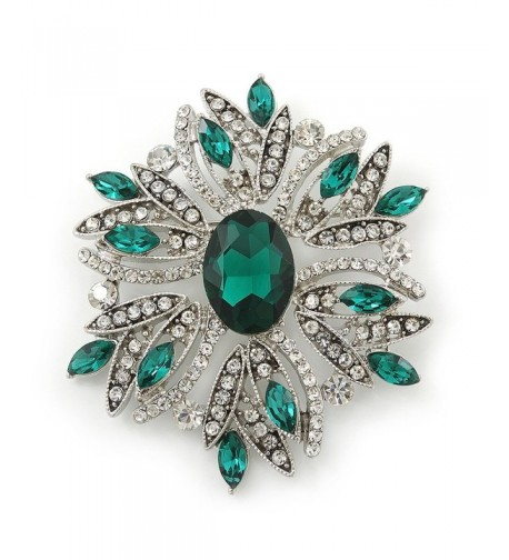 Stunning Emerald Austrian Crystal Corsage