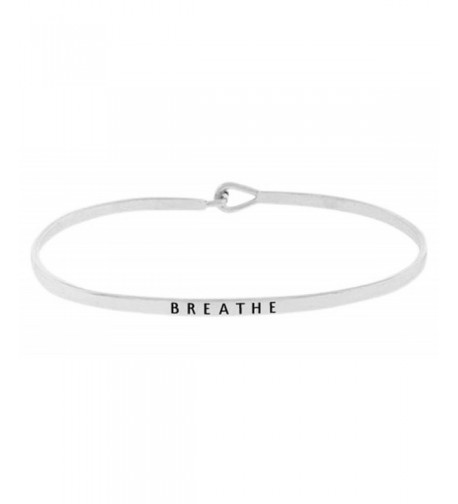 Inspirational BREATHE Positive Engraved Bracelet